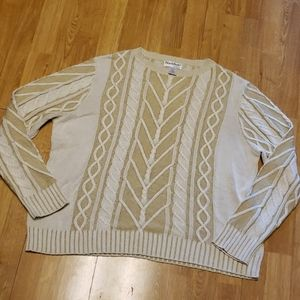 NorthStyle cream cable knit 2X sweater